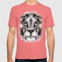 The King. Mens Fitted Tee Pomegranate SMALL