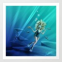 Deep Sea Feelings (Evolv… Art Print