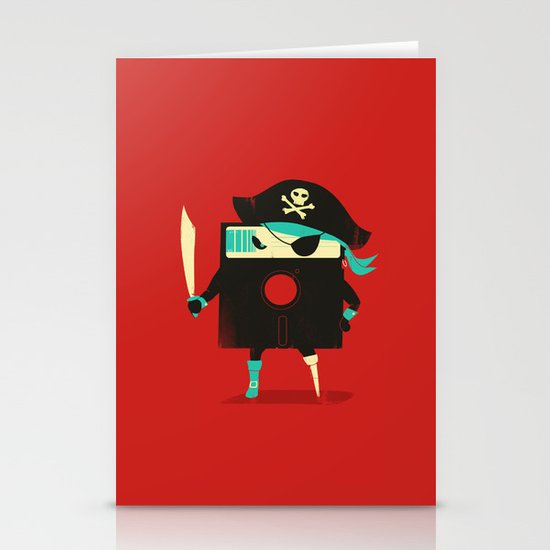 Software Pirate Stationery Card