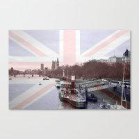 London Skyline And Union… Canvas Print