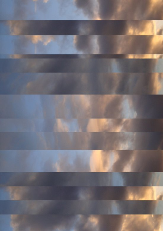 Striped Clouds Art Print