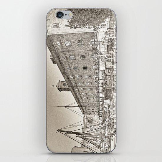 St Katherine's Dock London sketch iPhone & iPod Skin