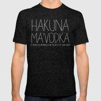 Hakuna Ma'Vodka Mens Fitted Tee Tri-Black SMALL