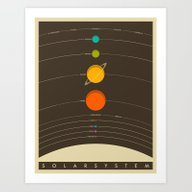 Art Print featuring Solar System by Jazzberry Blue