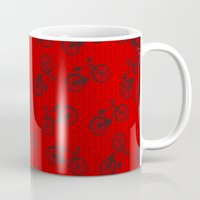Red Bicycle Pattern Mug