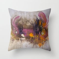 Pinkpurple Playstation Catrabbit - Gamepad Series Throw Pillow