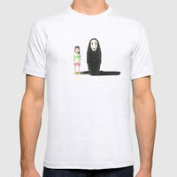 Spirited Away Mens Fitted Tee Ash Grey SMALL