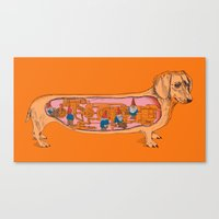 Secrets Of The Dachshund… Canvas Print
