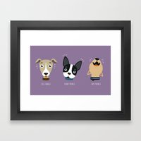 Three wise dogs Framed Art Print