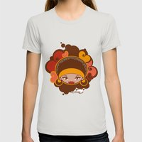 Bee-J Color Womens Fitted Tee Silver SMALL