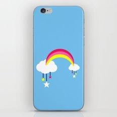 Cloudy Rainbows - Blue iPhone & iPod Skin