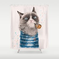 Sailor Cat III Shower Curtain