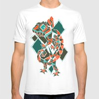 Camaleon Mens Fitted Tee White SMALL