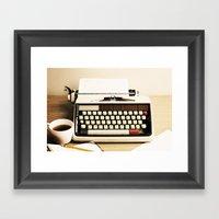 Tell Me A Story III Framed Art Print