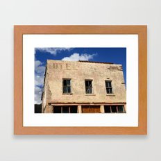 Hotel - Closed for business Framed Art Print