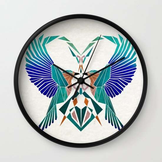 couple of blue birds Wall Clock