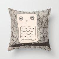 Jeffery The Owl Throw Pillow
