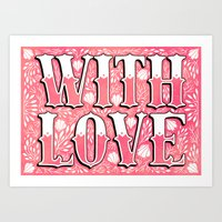 With Love Art Print