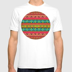 Ethnic Pattern #2 Mens Fitted Tee White SMALL