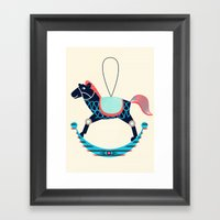 Rocking Horse Framed Art Print