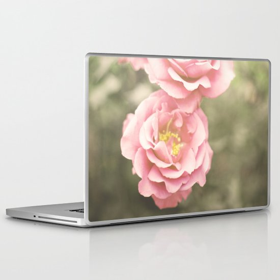 Haze Roses (Retro and Vintage Flower Photography) Laptop & iPad Skin