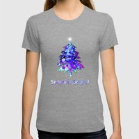 Christmas Tree Womens Fitted Tee Tri-Grey SMALL