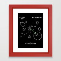 Retro Star Wars Arcade … Framed Art Print
