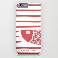 iPhone & iPod Case featuring PIXE 2 (light red) by Mi Jardín Secreto