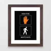 High Five White Guys Framed Art Print