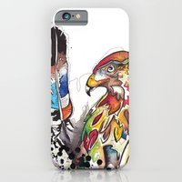 Hawk and Feathers. iPhone 6 Slim Case