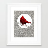 A Red Cardinal Framed Art Print