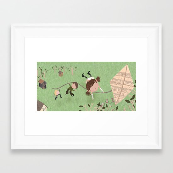 Kite Framed Art Print