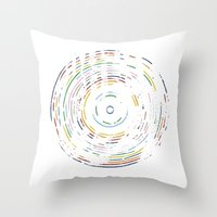Rainbow Record Throw Pillow