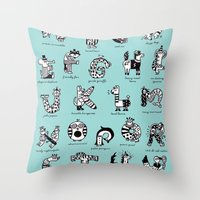 A to Z animals Throw Pillow