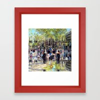 Summer space, smelting selves, simmer shimmers. 26 Framed Art Print