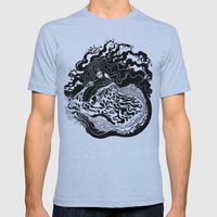 Little mermaid Mens Fitted Tee Athletic Blue SMALL
