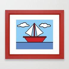 The Simpsons Sailboat Framed Art Print