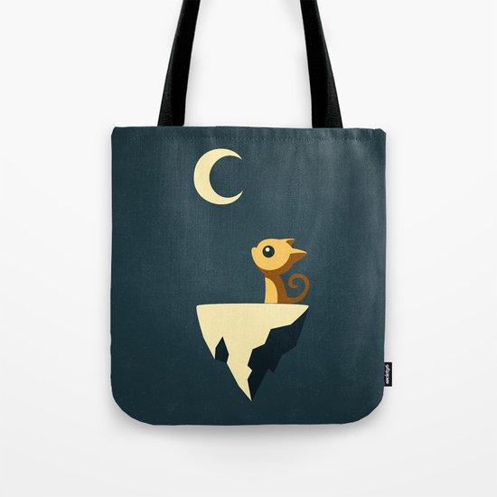 Moon Cat Tote Bag