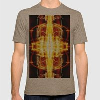 CHASING LIGHTS Mens Fitted Tee Tri-Coffee SMALL