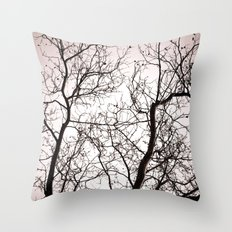 Branches in Winter Throw Pillow