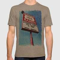 The Burger Ranch Mens Fitted Tee Tri-Coffee SMALL