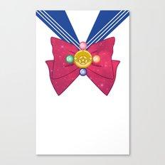 Galactic Sailor Moon Bow Canvas Print
