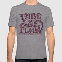 Vibe & Flow Mens Fitted Tee Athletic Grey SMALL