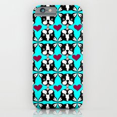 French kissing Boston Terriers iPhone 6 Slim Case