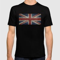 Union Jack (1:2 Version) Mens Fitted Tee Black SMALL