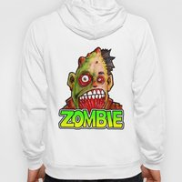 ZOMBIE title with zombie head Hoody