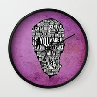 Typography Narrator Wall Clock
