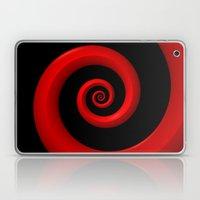 Red Spiral on Black Background Laptop & iPad Skin