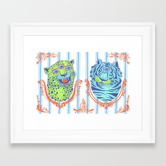 Stephan and Steve Framed Art Print