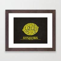 30 Rock - Liz Lemon Framed Art Print